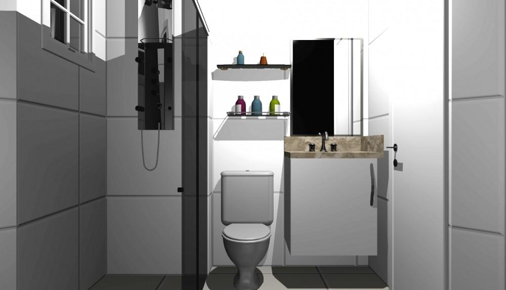 Banheiro com Móveis Planejados no Jardim Analícia - Fabricante de Banheiro Planejado