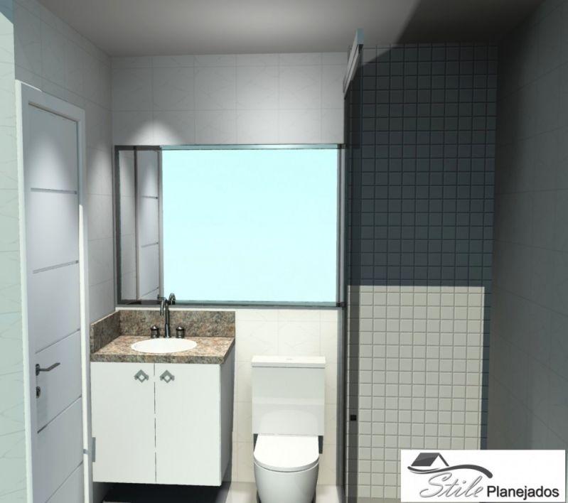 Banheiro com Móveis sob Medida Preço no Jardim Marciano - Banheiro Planejado em Sp