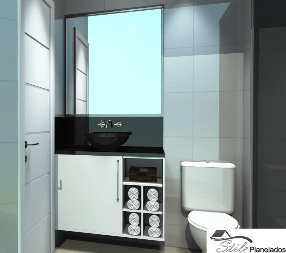 Banheiro Planejado em São Paulo Preço em Itapevi - Banheiro com Móveis Planejados