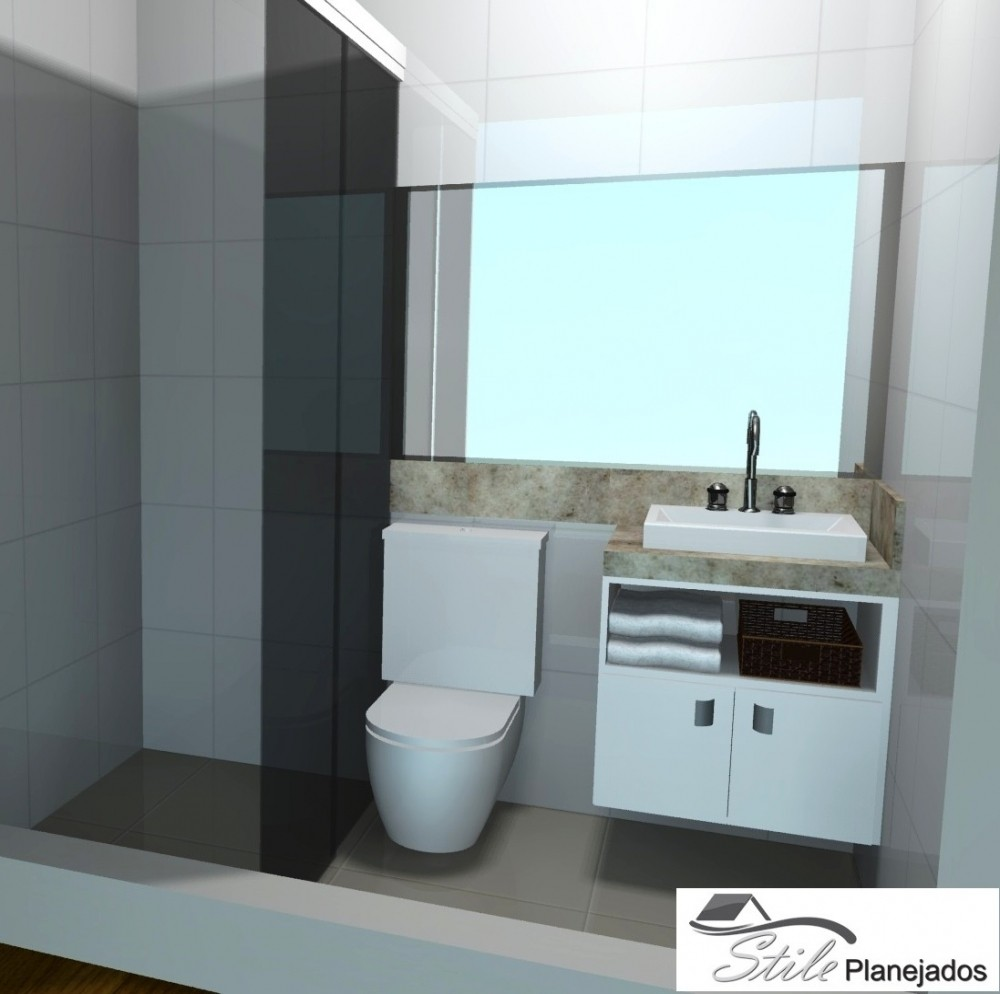 Banheiro com Móveis sob Medida  Stile Planejados -> Banheiro Feminino Planejado
