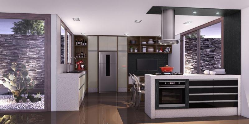 Cozinha com Móveis sob Medida Preço na Vila Facchini - Cozinha com Ilha