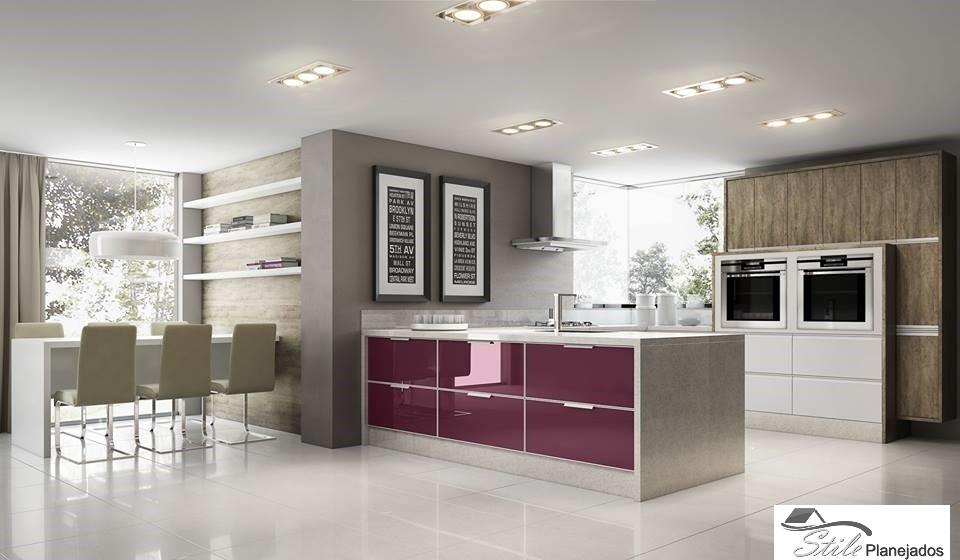 Cozinha Planejada com Ilha Jardim Ibirapuera - Cozinha com Ilha