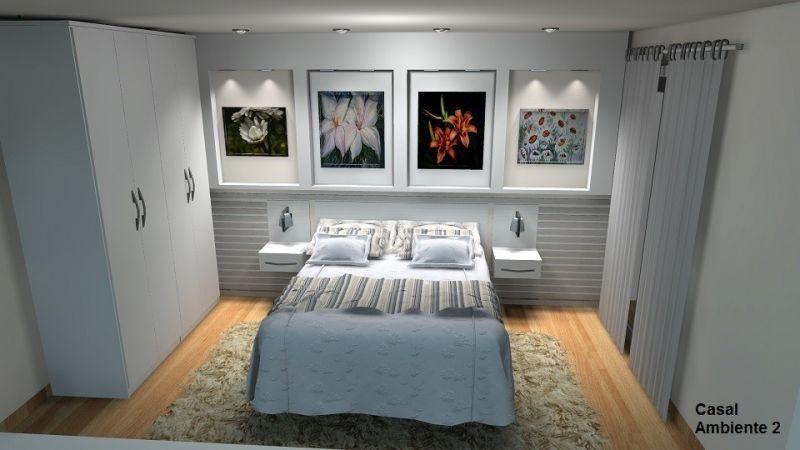 Dormitório Planejado para Quarto Pequeno no Alto da Riviera - Quarto Planejado em Interlagos