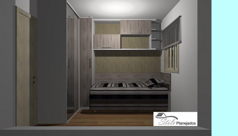Dormitório Planejado para Quarto Pequeno Stile Planejados