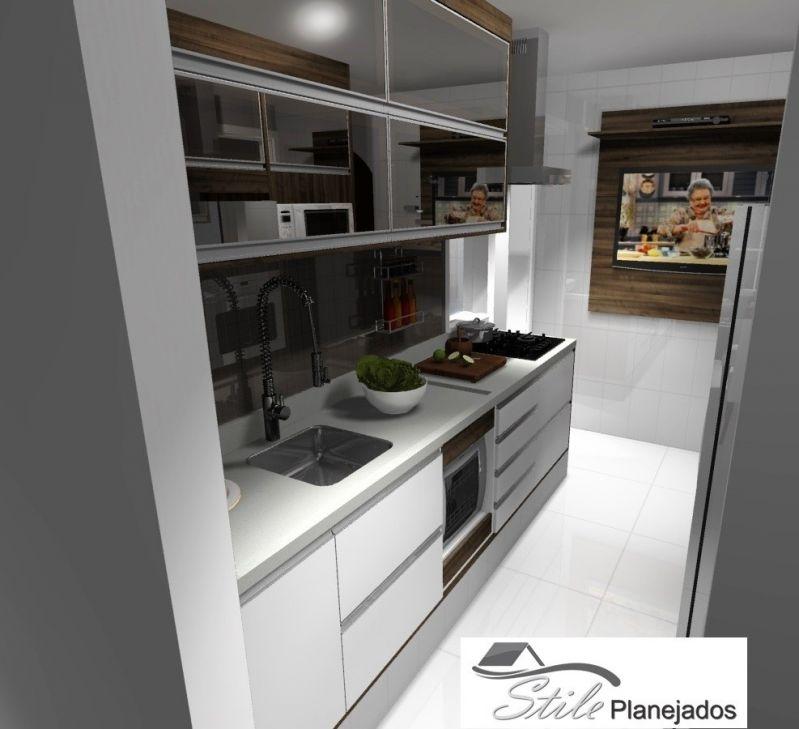 Fábrica de Cozinhas Planejada no Jardim Rosana - Cozinha com Ilha