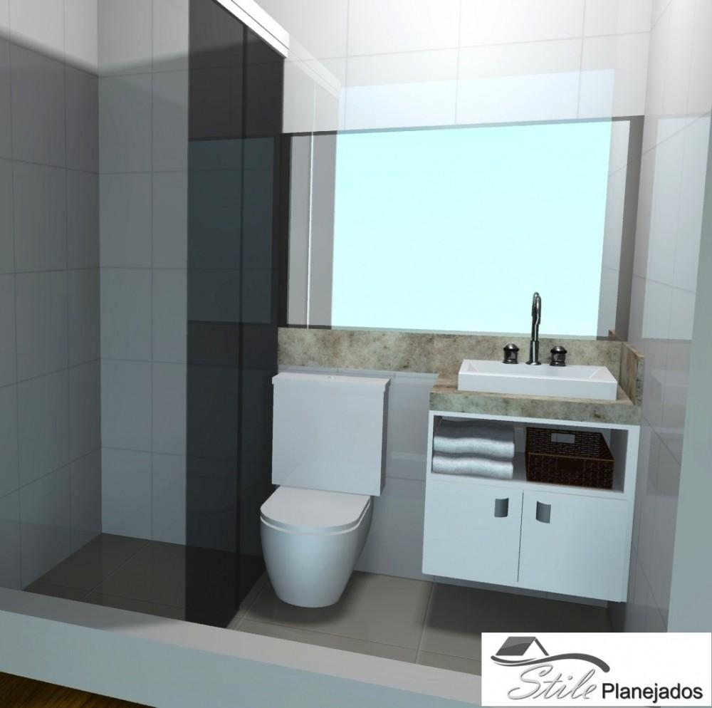 Fabricante de Banheiros Planejado em Mongaguá - Banheiro com Móveis Planejados
