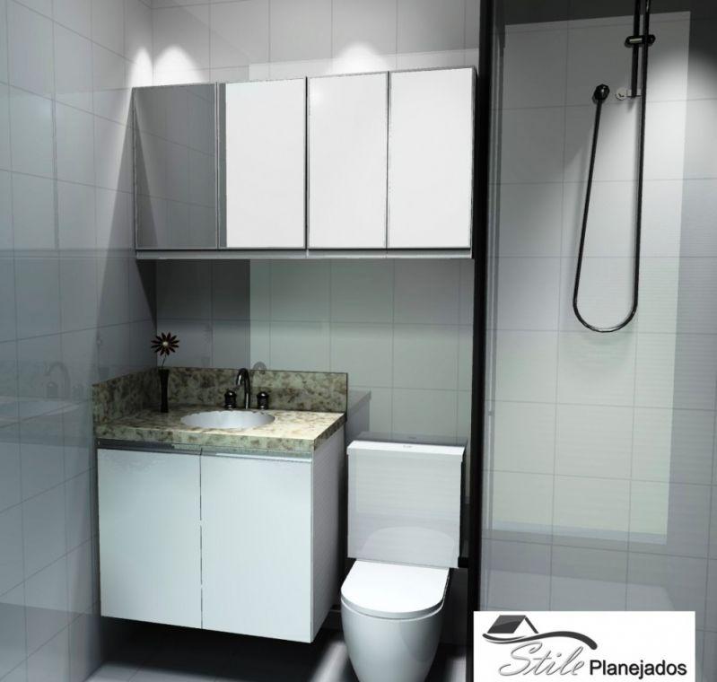 Loja de Móveis Planejados para Banheiro Preço na Cidade Nova Heliópolis - Banheiro Planejado em Interlagos
