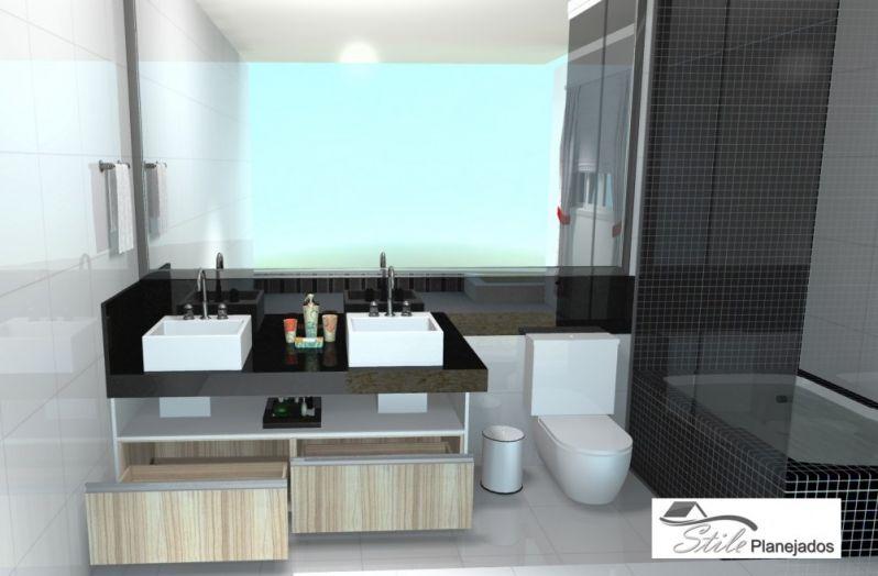 Orçamento de Banheiro com Móveis Planejados na Vila São José - Banheiro Planejado em Sp