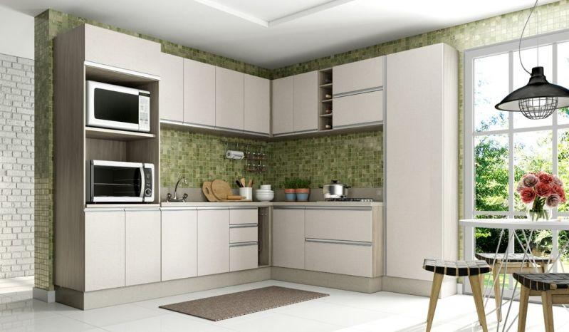 Orçamento de Cozinha com Móveis Planejados no Jardim São José - Cozinha com Ilha