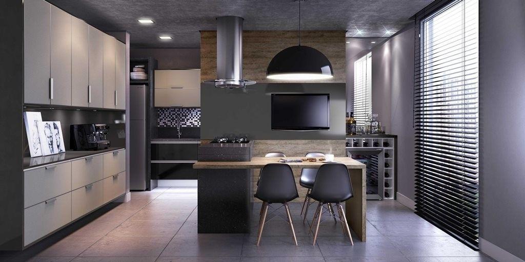 Orçamento de Cozinha Planejada em Sp no Conjunto dos Bancários - Cozinha com Ilha