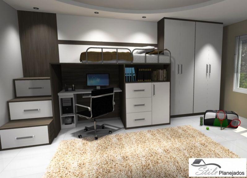 Orçamento de Dormitório Planejado para 3 Filhos no Jardim Mitsutani - Quarto Planejado em Interlagos