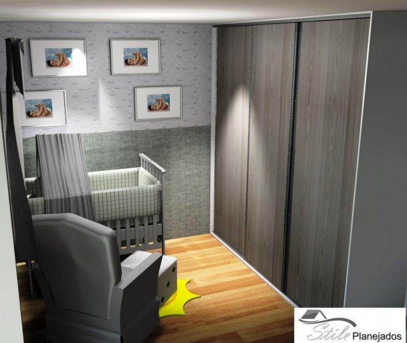 Quarto de Bebê Planejado no Jardim Irene - Dormitório Planejado para 3 Filhos