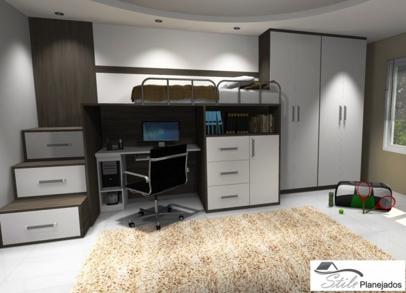 Quarto Infantil Planejado na Vila Gumercindo - Dormitório Planejado para 3 Filhos