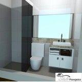banheiro com móveis planejados preço no Jardim Hípico