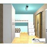dormitório planejado para 3 filhos em Paulínia