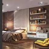 dormitório planejado para solteiro